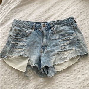 Distressed High-Waisted Jean Shorts!